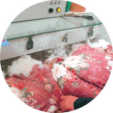 羽毛掛け布団の解体後に洗います!